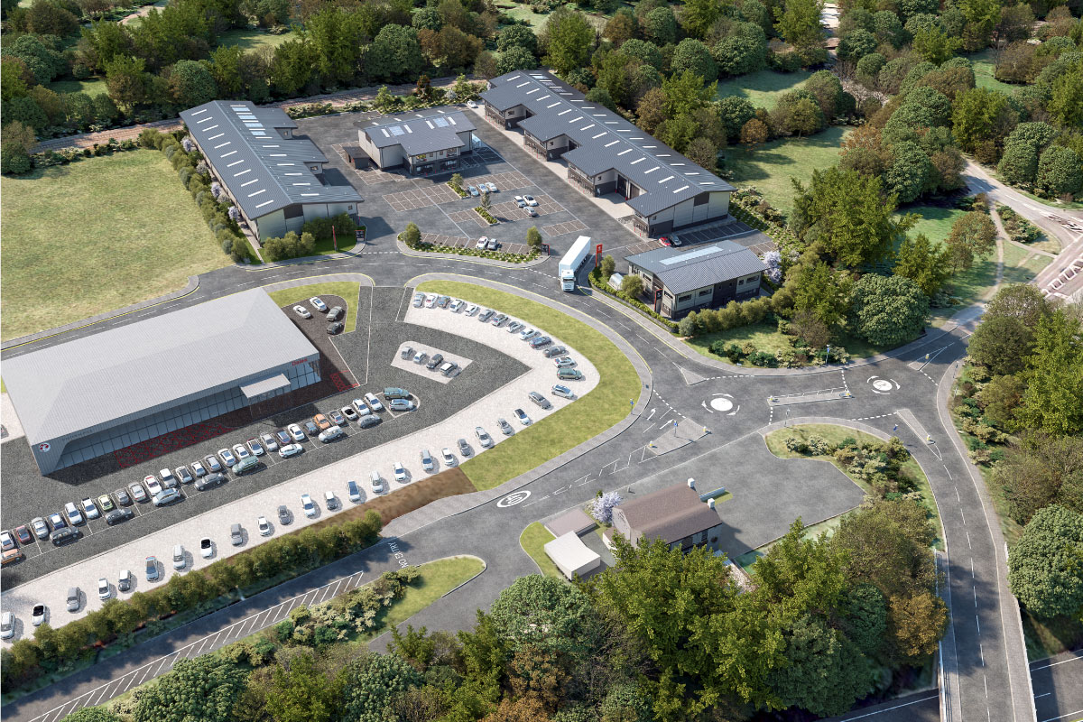 Redruth Enterprise Park aerial